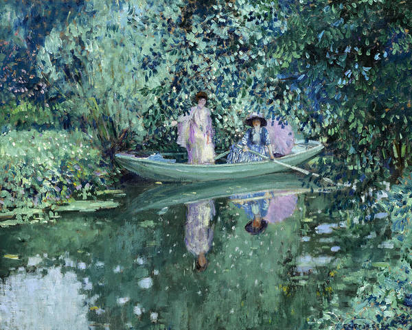 Wall Art - Painting - Gray Day On The River by Frederick Carl Frieseke