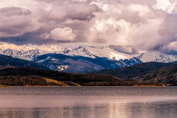 Gray Skies Over Lake Granby Art Print