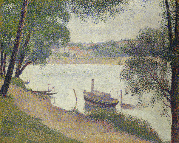 Painting - Gray Weather, Grande Jatte by Georges-Pierre Seurat