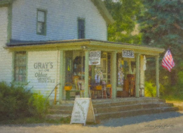 Painting - Gray's Store In Little Compton Rhode Island by Bill McEntee