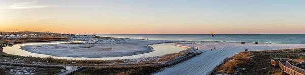 Grayton Beach Dawn Panorama Art Print