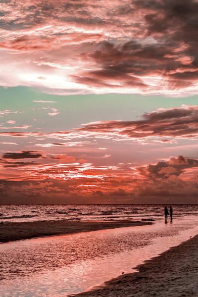 Grayton Red Sunset Art Print