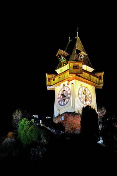 Photograph - Graz Clock Tower by Ivan Slosar