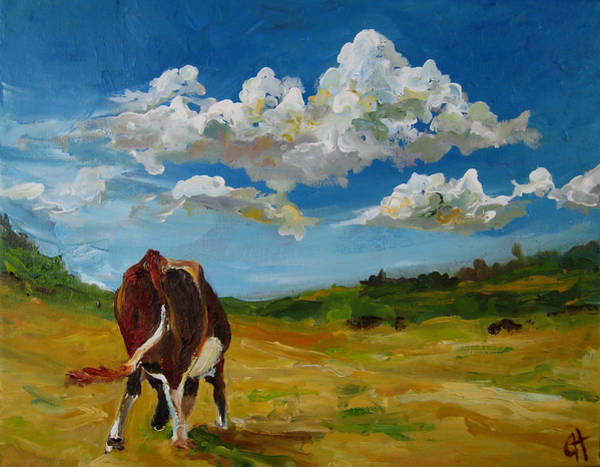 Wall Art - Painting - Grazing by Cari Humphry