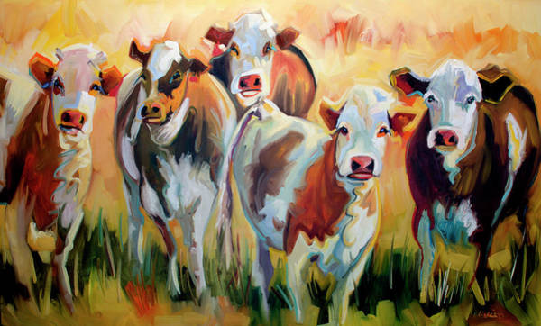 Wall Art - Painting - Grazing by Diane Whitehead