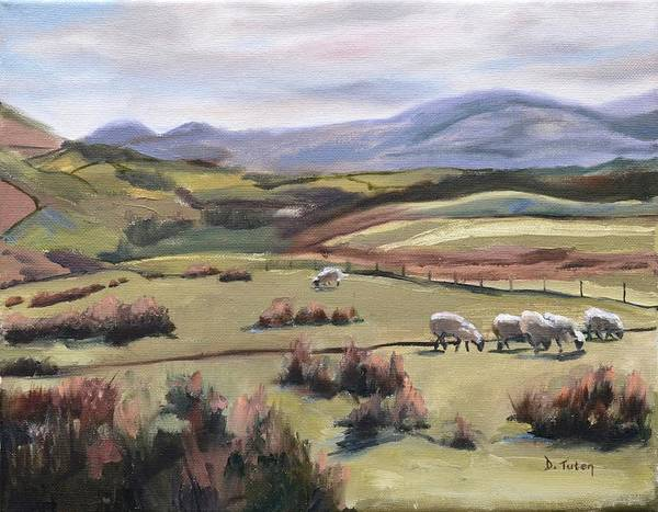 Painting - Grazing Sheep by Donna Tuten
