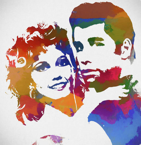 Wall Art - Painting - Grease Watercolor by Dan Sproul