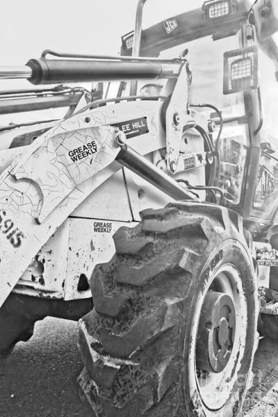 Heavy Duty Truck Wall Art - Photograph - Grease Weekly Jcb by Terri Waters