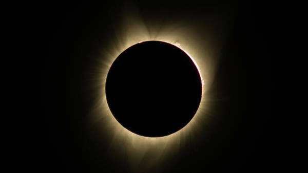 Photograph - Great American Eclipse 16x9 Totality Square As Seen In Albany, Oregon. by John King