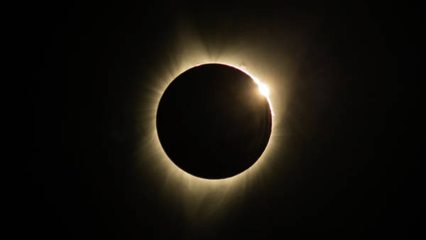 Photograph - Great American Eclipse Diamond Ring16x9 Totality Square As Seen In Albany, Oregon. by John King