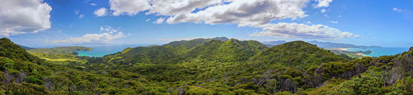 Photograph - Great Barrier Island New Zealand Lookout Point Panorama by Joan Carroll