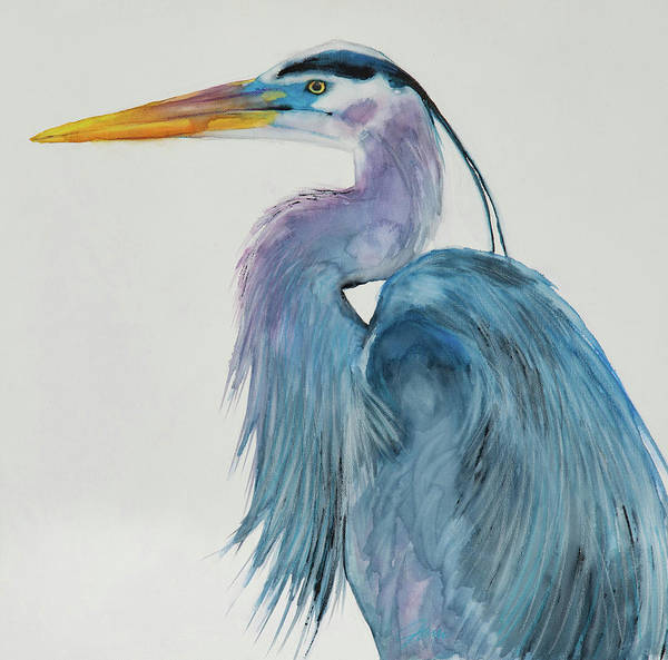Mixed Media - Great Blue Heron 2 by Jani Freimann