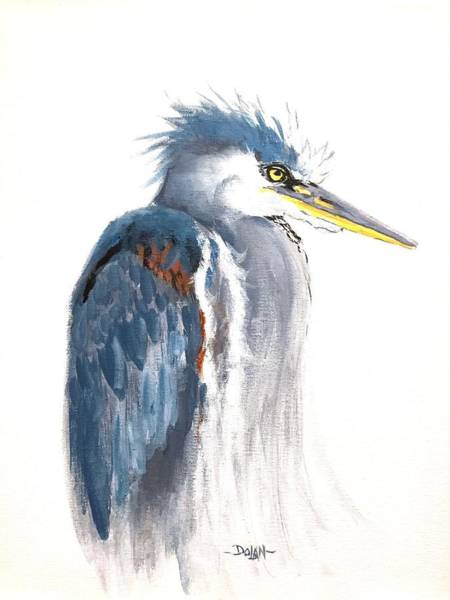 Painting - Great Blue Heron by Pat Dolan