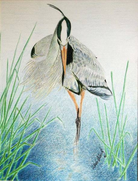 Painting - Great Blue Heron by Wade Clark