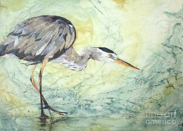 Great Blue Heron Mixed Media - Great Blue by Patricia Henderson