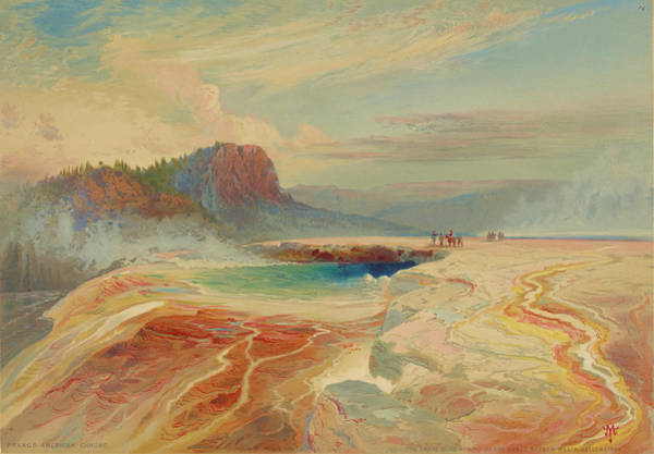 Wall Art - Photograph - Great Blue Spring Of Lower Geyser Basin, Yellowstone National Park 1876 by Ricky Barnard