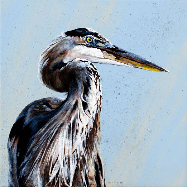 Painting - Great Blue Theodore by Joan Garcia