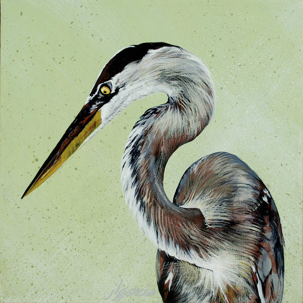Painting - Great Blue Milton by Joan Garcia