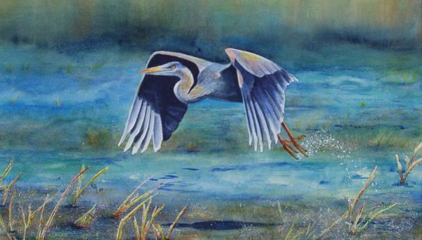 Painting - Great Blue Yonder by Karen Fleschler