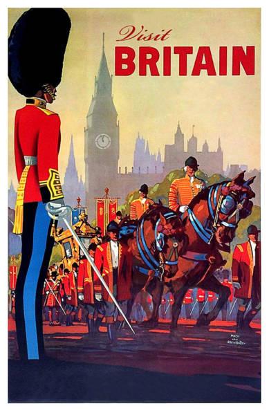 Great Britain Painting - Great Britain, Royal Parade, Travel Poster by Long Shot