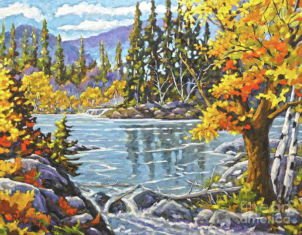 Wall Art - Painting - Great Canadian Lake  - Large Original Oil Painting by Richard T Pranke