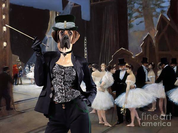 Wall Art - Painting - Great Dane Art - Behind The Scenes Of The Opera Theatre by Sandra Sij