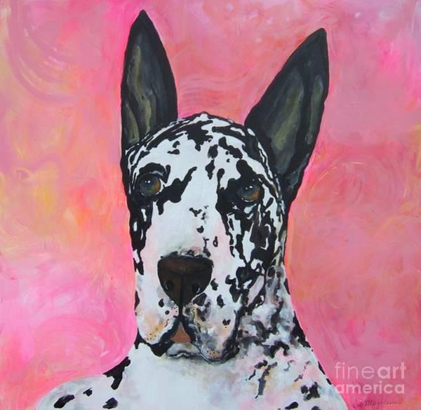 Black Great Dane Painting - Great Dane by Deb Magelssen