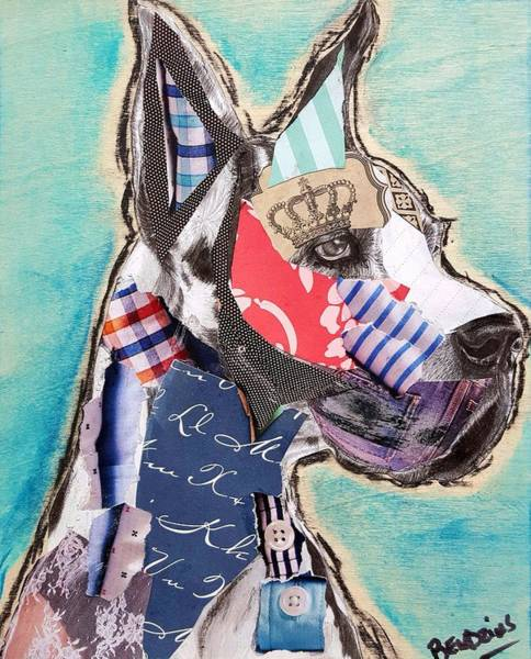 Dane Mixed Media - Great Dane by Theresa Bendzius