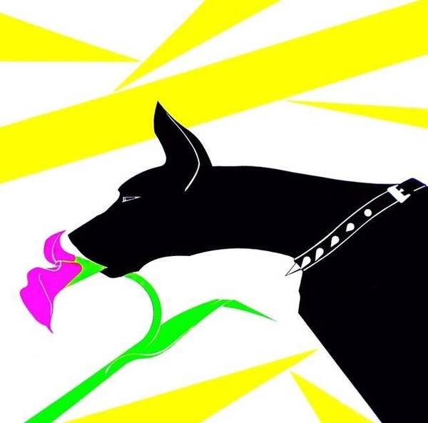 Black Great Dane Painting - Great Dane by Troy Hixson