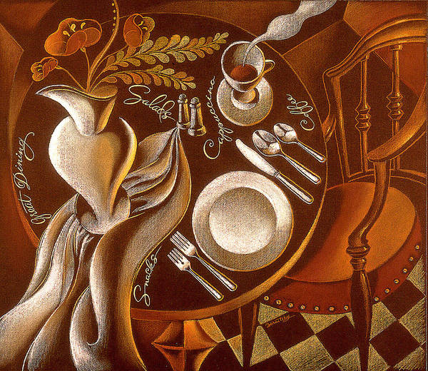 Wall Art - Painting - Great Dining by Leon Zernitsky
