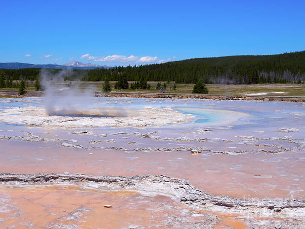 Wall Art - Photograph - Great Fountain Geyser In Yellowstone National Park by Louise Heusinkveld