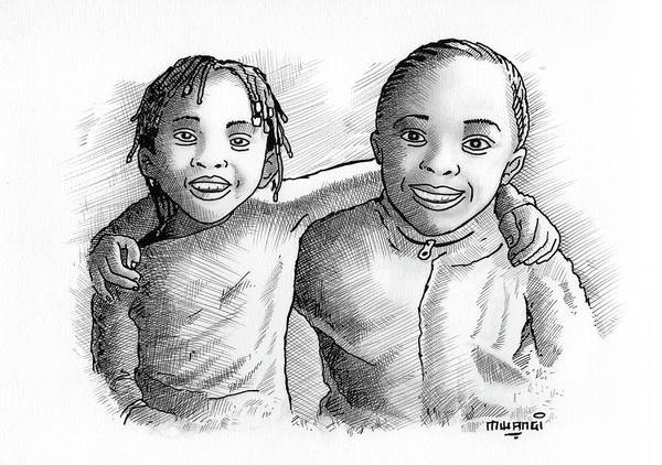 Kenya Mixed Media - Great Friends by Anthony Mwangi