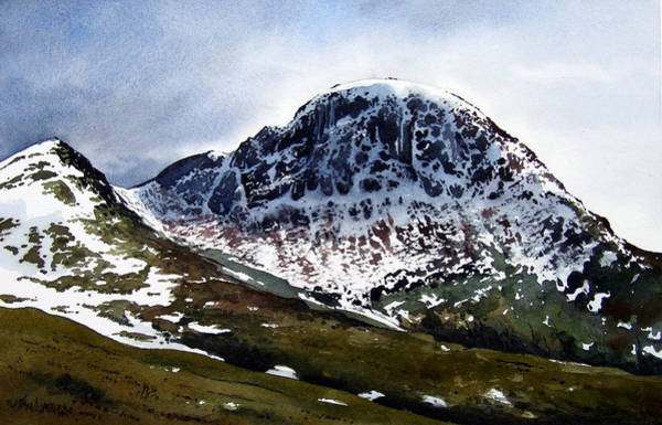 Lake District Painting - Great Gable by Paul Dene Marlor