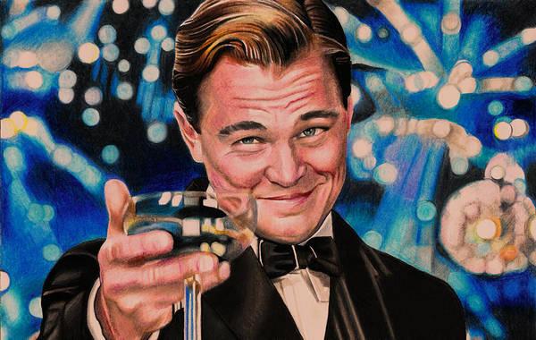 Colour Mixed Media - Great Gatsby Leonardo Dicaprio by Daniel Daniel