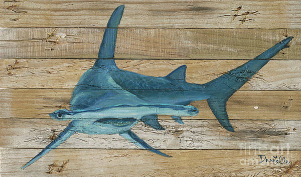 Recycle Painting - Great Hammerhead by Danielle Perry