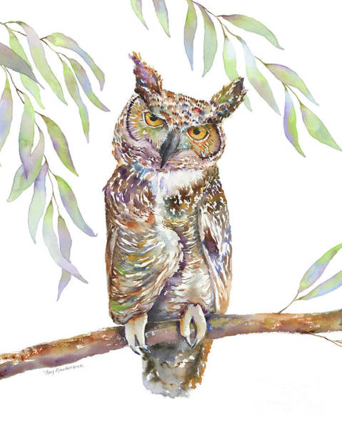 Painting - Great Horned Owl  by Amy Kirkpatrick