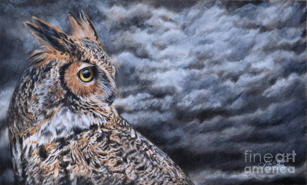 Painting - Great Horned Owl by Lachri