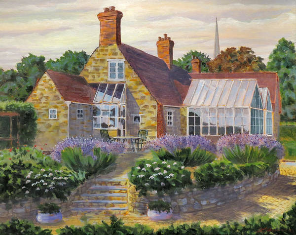 Painting - Great Houghton Cottage by David Gilmore