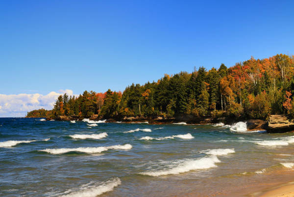 Photograph - Great Lakes Autumn Waves by Rachel Cohen