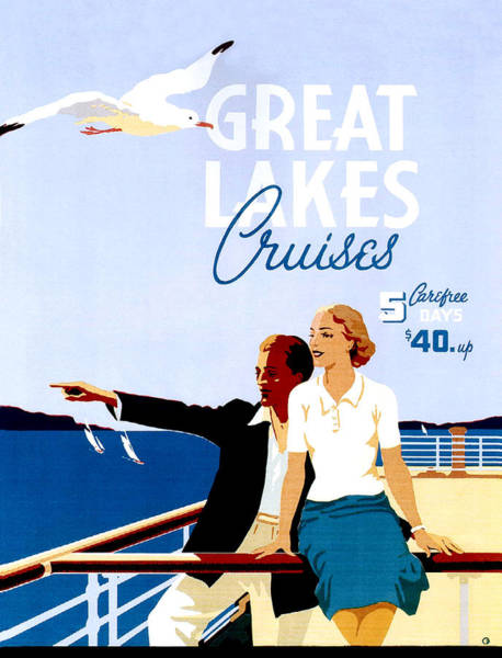 Wall Art - Painting - Great Lakes Cruises by Long Shot