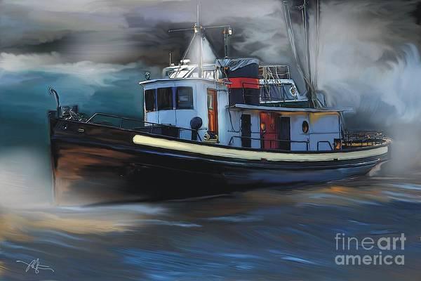 Tugboat Wall Art - Painting - Great Lakes Tugboat by Bob Salo