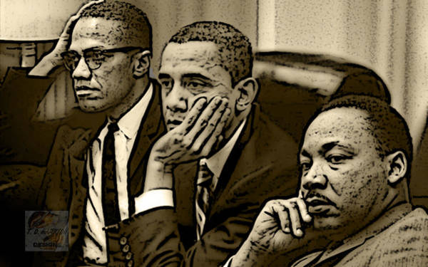 Barack Obama Wall Art - Digital Art - Great Minds by Tredarion Hampton