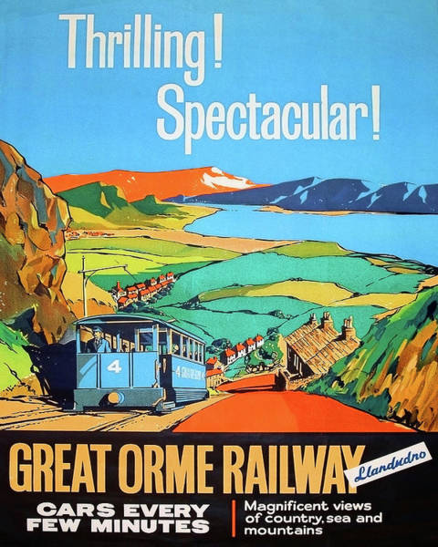 Great Britain Painting - Great Orme Tramway, Great Britain by Long Shot