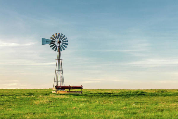 Wall Art - Photograph - Great Plains Windmill by Todd Klassy