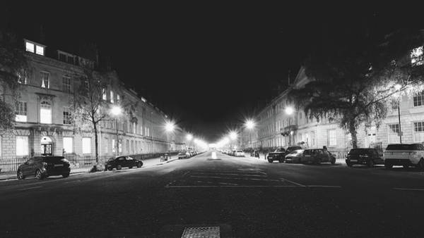 Photograph - Great Pulteney Street In Bath By Night by Jacek Wojnarowski