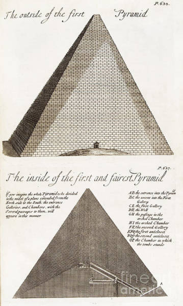 Photograph - Great Pyramid At Giza, Egypt, 1744 by Wellcome Images