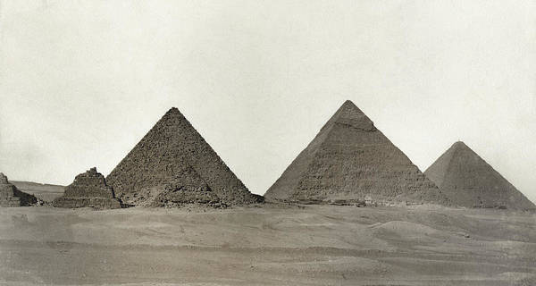 Photograph - Great Pyramids by Granger