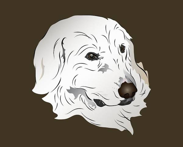 Digital Art - Great Pyrenees Dog by MM Anderson