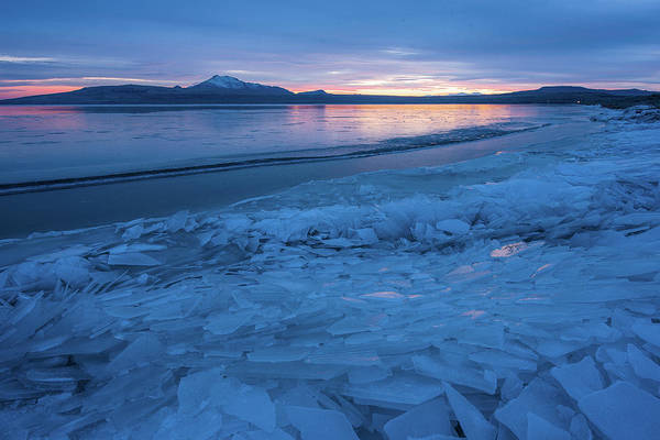 Photograph - Great Salt Lake Ice Sheets by Ryan Moyer