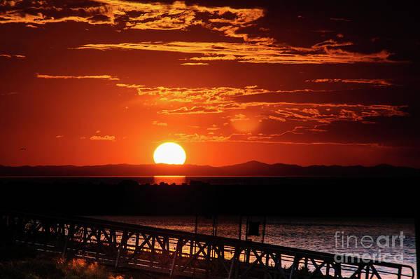 Photograph - Great Salt Lake Sunset by Bryan Carter